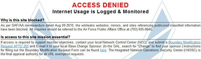 Web access denied message