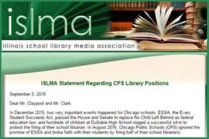 Detail of statement from Illinois School Library Media Association