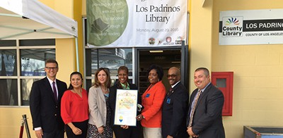 New library unveiled at Los Padrinos Juvenile Hall in Downey, Calif.