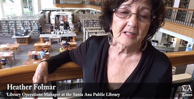 Santa Ana (Calif.) Public Library. Screenshot from LA Times video