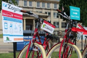 BikeSmart bikes at Stark County District Library in Canton, Ohio.