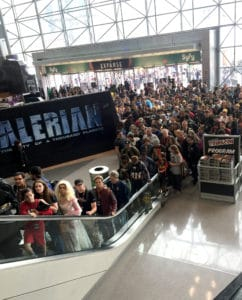 The crowds file into day three of New York Comic Con 2016. Photo: Ivy Noelle Weir