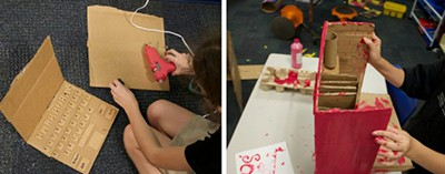 Students' cardboard challenge projects