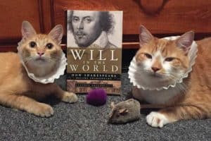 "At Centre County (Pa.) Library and Historical Museum, librarian Lisa Shaffer posts pictures of her cats to the library's Facebook and Twitter accounts for ""Saturday Caturday."" Here, Marmie and Horatio celebrate Shakespeare's birthday."