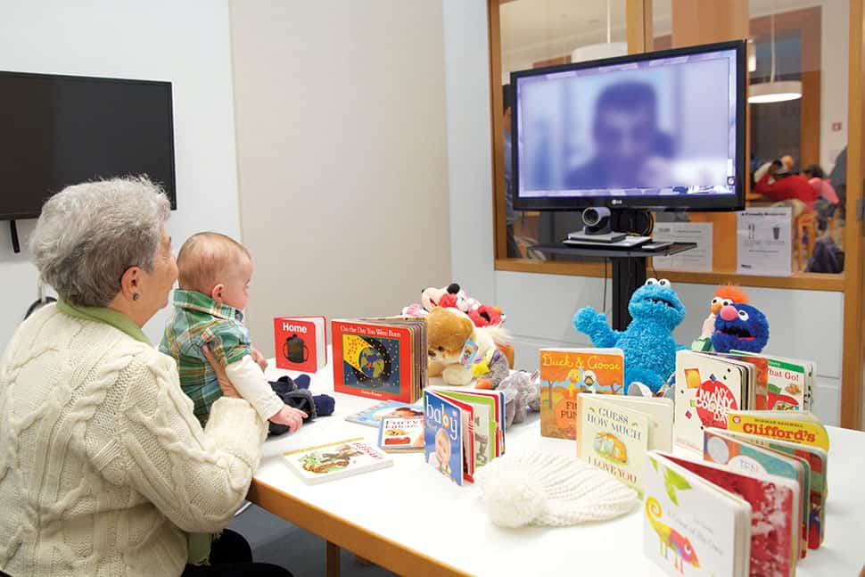 Brooklyn (N.Y.) Public Library's TeleStory program provides space to videochat at the library, letting families connect with their incarcerated loved ones, reading books and singing songs together.