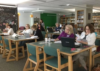 An ESSA workshop conducted by the Massachusetts School Library Association on September 17 at Sharon (Mass.) High School.
