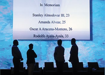 A memorial at ALA's Annual Conference in Orlando
