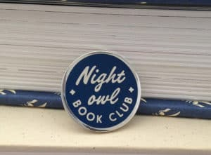 Night Owl Book Club pin