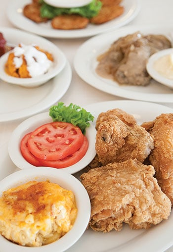 Fried chicken at Mary Mac's Tea Room