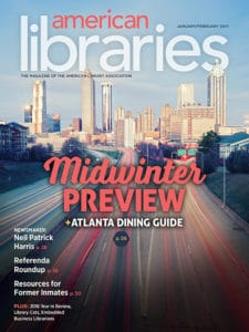 American Libraries January/February 2017 cover