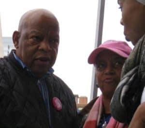 US Rep. John Lewis at the Women's March in Atlanta.