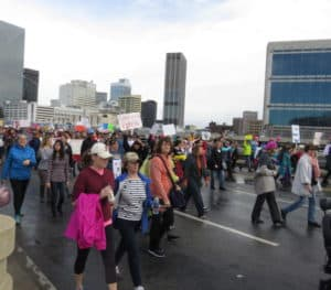 Marchers taking part in the Atlanta demonstration on January 21.