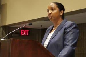 Keynote speaker Daina Ramey Berry. Photo: George M. Eberhart