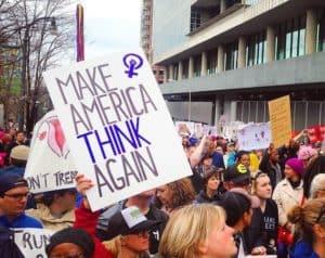Scenes for the Women's March in Atlanta.