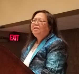 Speaker Patty Wong. Photo by George M. Eberhart.