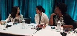 Charlotte Roh, Isha Lee, and Darlene Gillard