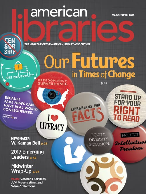 American Libraries cover March/April 2017