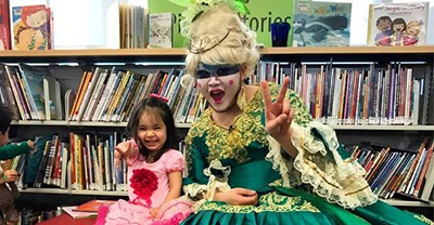 Drag Queen Story hour at the San Francisco Public Library