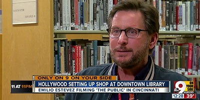 Emilio Estevez talks about filming The Public