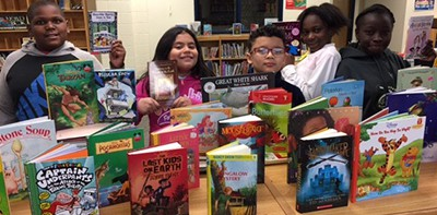 Books donated to Princeville Elementary School
