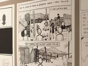 "Graphic novel projects, such as the ""Amira In America"" one at University of Maryland, can be a therapeutic way to reach refugees and asylum seekers who may have experienced trauma. <span class=""credit"">Photo: Rebecca Lomax/American Libraries</span>"