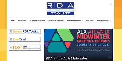 Mockup of new RDA Toolkit website
