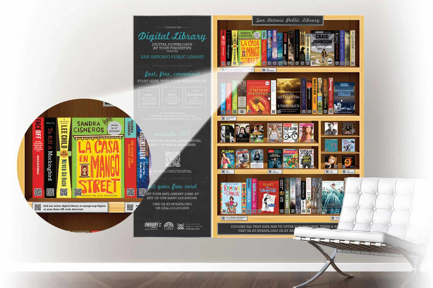 SAPL's digital wallpaper brings the library's ­collection into the community.