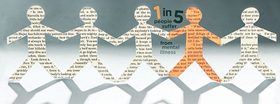 1 in 5 people suffer from mental illness