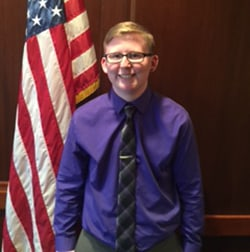 Transgender student Alex McCray.