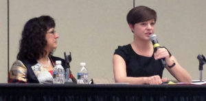 ACRL President Irene Herold (left) with Corey Williams, librarian and lobbyist at the National Education Association.