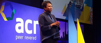 Librarian of Congress Carla Hayden delivers the closing address at the Association of College and Research Libraries conference in Baltimore on March 25