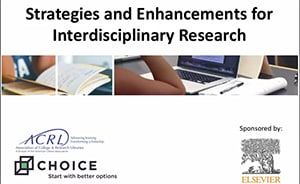 Screenshot from March 9 ACRL-Choice webinar on Strategies and Enhancements for Interdisciplinary Research