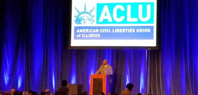Jelani Cobb speaks at the ACLU of Illinois luncheon in Chicago