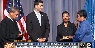 Carla Hayden is sworn in as Librarian of Congress