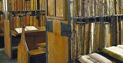The Hereford Cathedral chained library