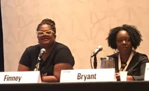 South by Southwest Interactive panelists Kathryn Finney (left), founder of DigitalUndivided, and Kimberly Bryant, founder and executive director of Black Girls Code Photo: Maryann James-Daley