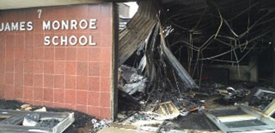 Fire at James Monroe Elementary in Edison, New Jersey, March 2014