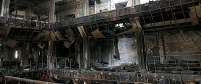 Reuters photo of what's left of Mosul University Library