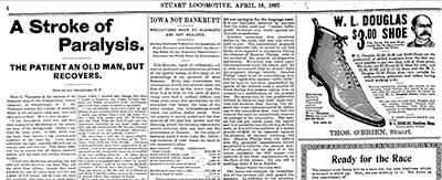 Page 4 of the Stuart (Iowa) Locomotive for April 16, 1897