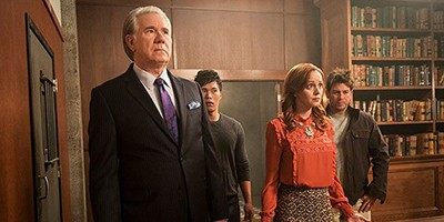 The Librarians TV stars: John Larroquette, John Harlan Kim, Lindy Booth, Christian Kane
