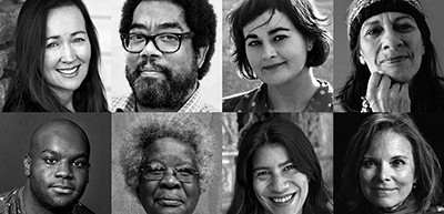 The 2017 recipients of the Windham-Campbell Prizes are (top row, left to right) Marina Carr, André Alexis, Ashleigh Young, Ali Cobby Eckermann, (bottom row) Ike Holter, Erna Brodber, Maya Jasanoff, and Carolyn Forché