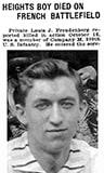 1918 obituary for Pvt. Louis J. Freudenberg