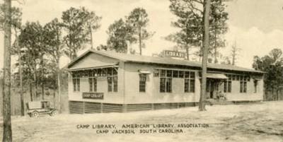 ALA camp library, Camp Jackson, South Carolina