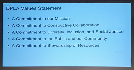 DPLA values statement