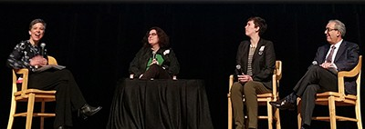 In the plenary session, Sarah Burnes, Jennifer Brier, Nell Taylor, and Luis Herrera discuss how archives are put together
