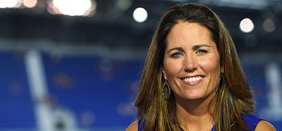 Julie Foudy during the United States Women's National Soccer Team versus South Korea Women's National Football Team international friendly match. Photo: Joe Faraoni/ESPN Images
