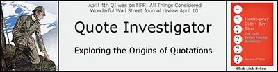 Quote Investigator banner