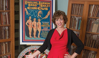 Maureen Brunsdale, special collections and rare books librarian at Illinois State University's Milner Library in Bloomington-Normal, is in charge of the Circus and Allied Arts Collection.