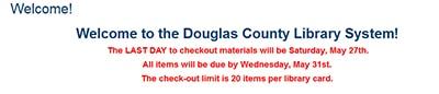 Douglas County (Oreg.) libraries are closing