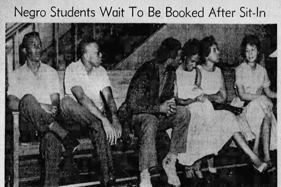 A young Jesse Jackson (center) was one of the Greenville (S.C.) Eight in 1960. Joan Mattison Daniel is third from the right.